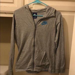 Grey Nike Zip Up!